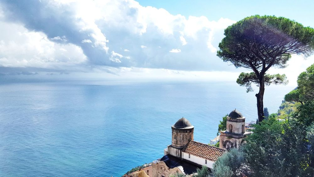 Sea Tranquil Scene Horizon Over Water Tranquility Tree Beauty In Nature Ocean Amalfi Coast Vacations Tourist Travel Destinations Ravello Italy