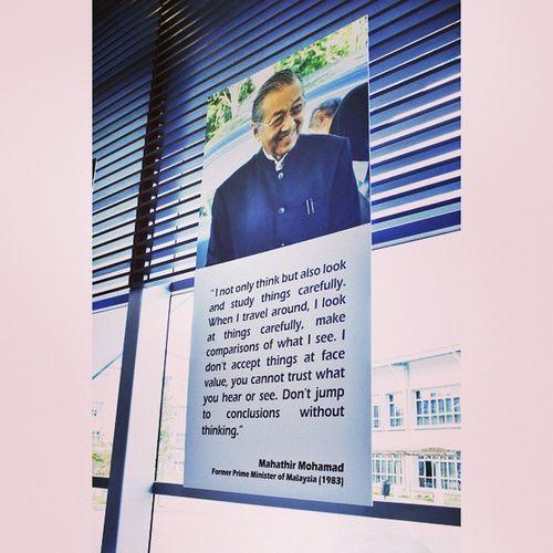 Wise Word from TunM Quoteoftheday PERMATApintar Ukmnews Student Ukm Minister Former PrimeMinister Mahathir TunMahathirMohamad