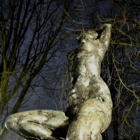 Statue Sculpture Sculptures Learn & Shoot: After Dark Handmade Art Light And Shadow Darkness And Beauty Woman Womanity  Night Nightphotography Trees Perfection View Downunder Graceful Values SURRENDER Strong Urbanphotography City