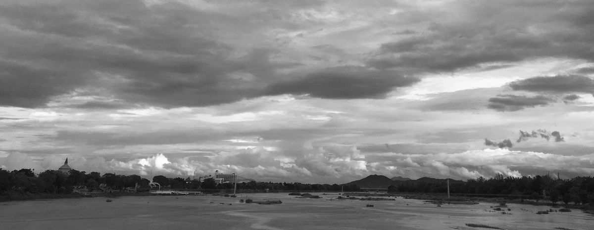 Tak Province. River Clouds Landscape_Collection Bnw Blackandwhite Blackandwhite Photography Black And White Photography Black And White Black&white Black & White Black And White Collection  Blackandwhitephotography Blackandwhitephoto Landscape
