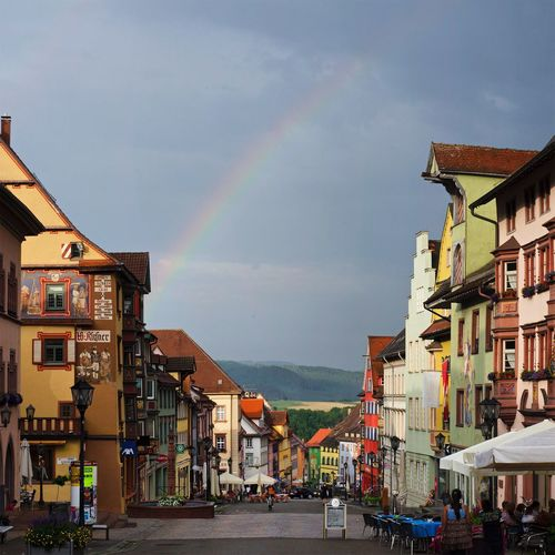 Rottweil after a storm. Built Structure Architecture Rainbow Sky Building Exterior Multi Colored Outdoors Cloud - Sky City Day Nature Travel Destinations Architecture
