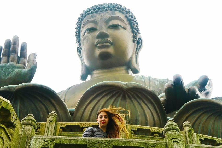 ASIA Religion Sculpture Spirituality Human Face Tourist Close-up Day Travel Destinations Statue Women King - Royal Person Low Angle View Adult People Outdoors