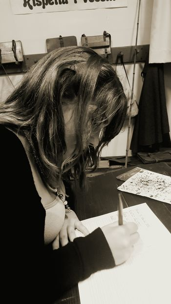 """""""Just as writing can become calligraphy when it's creatively, skillfully, and consciously performed, so can all other activities become art."""" (H. E. Davey) Oldschool School Callygraphy Nib Writing Education Ink Sepia Old Times Old Things Past"""
