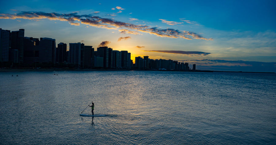 Fortaleza Architecture Beauty In Nature Building Exterior Built Structure City Cityscape Cloud - Sky Day Horizon Over Water Nature No People Outdoors Scenics Sea Sky Skyscraper Sunset Urban Skyline Water Waterfront