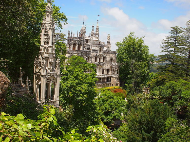 Castle Portugal Sintra (Portugal) Ancient Architecture Built Structure Low Angle View No People Outdoors Place Of Worship Sky Spirituality Tree