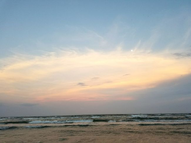 Kissed by the sun Sunset Beach Sea Horizon Over Water Sky Water Cloud - Sky Scenics Landscape Nature Blue Sand Beauty In Nature Reflection No People Sunlight Sun Outdoors Tranquility First Eyeem Photo