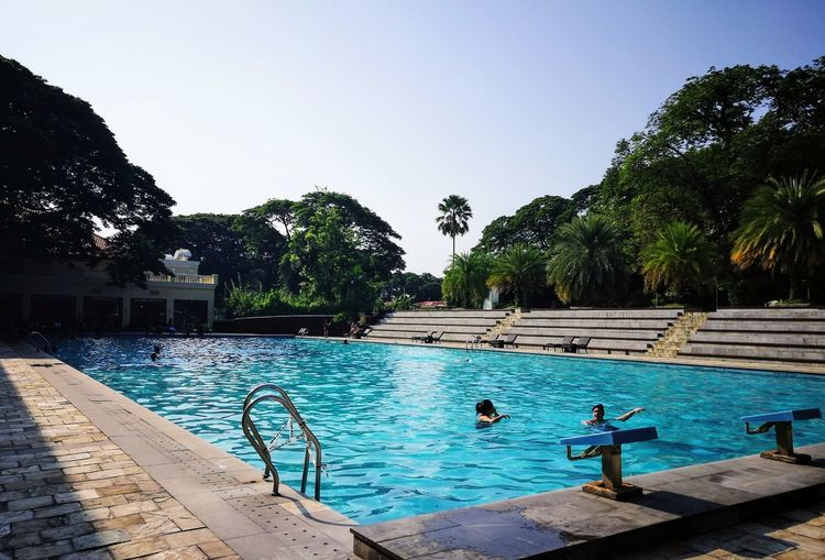 Breathing Space Leisure And Recreation Activity Amazing_captures Swimming Pool Dipping Outdoors Built_Structure Leisure Activities With Friends Tranquility Beauty In Nature