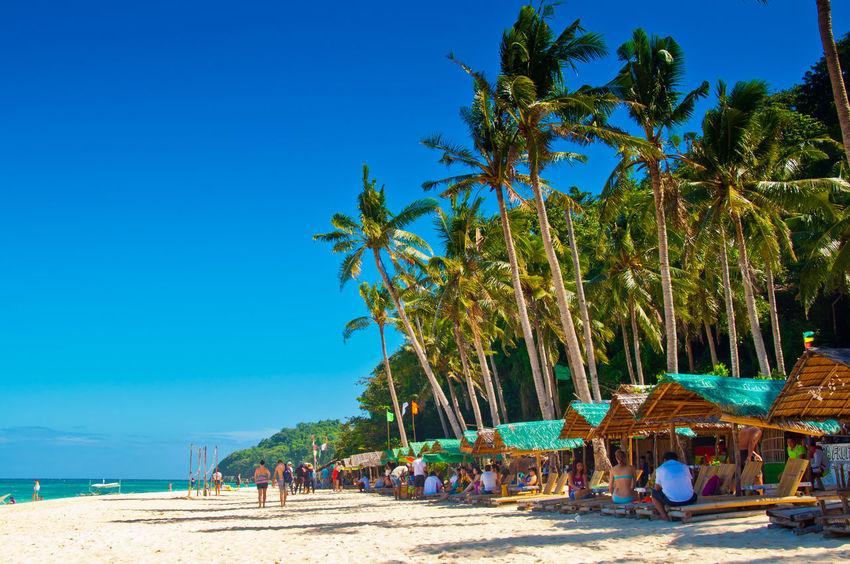 Philippines Silhouette Travel Beach Boracay Boracay Philippines Ocean Philippine Beaches White Background