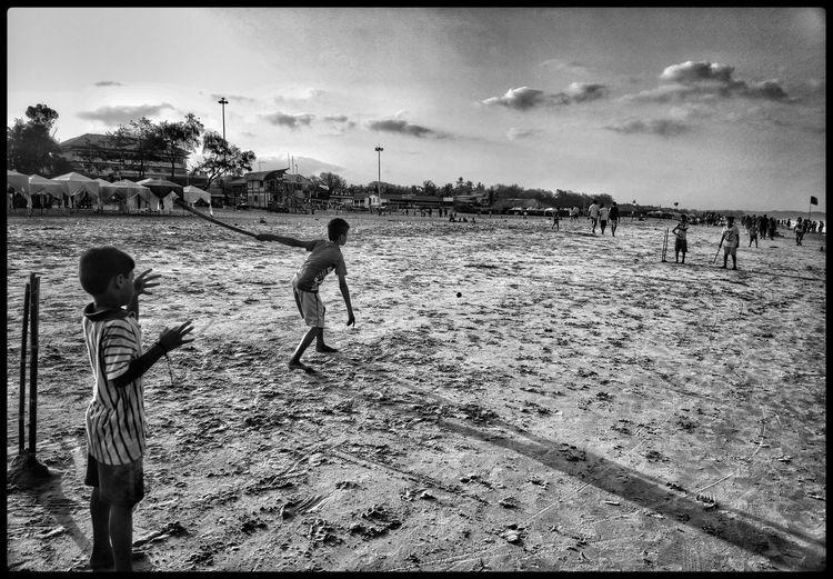 Ipl fever IPLFever Water Child Childhood Beach Sea Sand Boys Playing Togetherness Girls Children