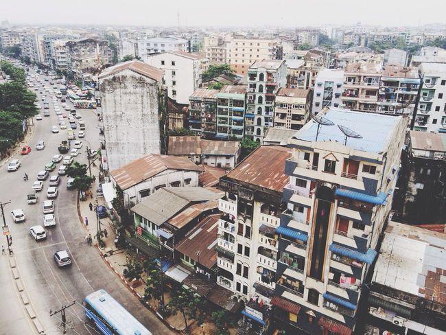 Birdeyeview. Cityscapes Yangon, Myanmar Steph Filter