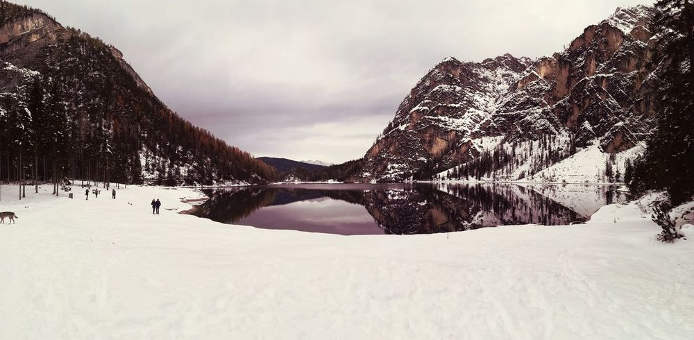 _Panorama Lakebraies Braies Mountain Snow Nature Winter ⛇ Perspectives On Nature EyeEmNewHere Be. Ready.