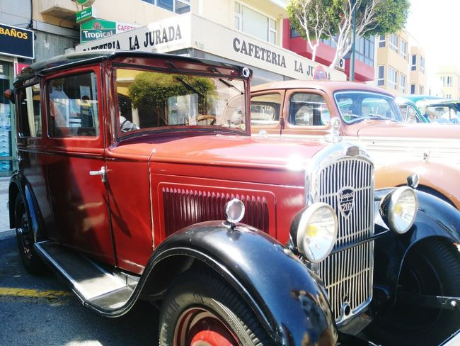 Mode Of Transport Transportation Headlight Car Land Vehicle Red Retro Styled Old-fashioned Outdoors Fire Engine Day No People Relíquias Carros Viejos Coches Antiguos, Event