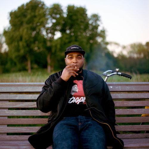 smoking Smoking Relax Thinking Portrait Men Sitting Looking At Camera Mature Men Park Bench Bench Park Thinking Jacket