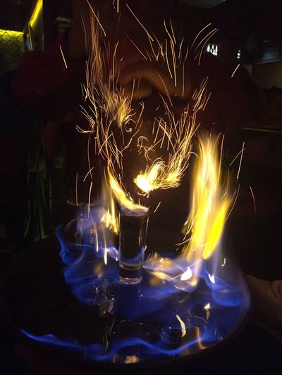 Flame Burning Heat - Temperature Close-up Indoors  Drink Fuego Fire Face Cara De Fuego Table Illuminated Night Darkroom Tea Light