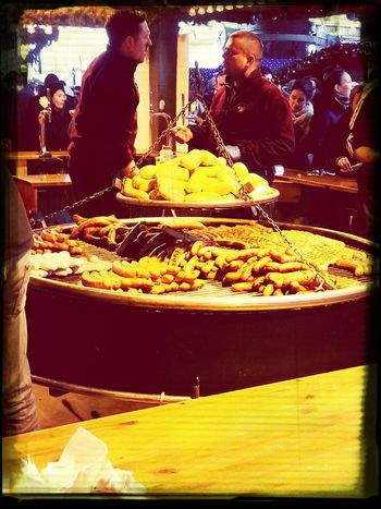 Sausages at the Christmas Market