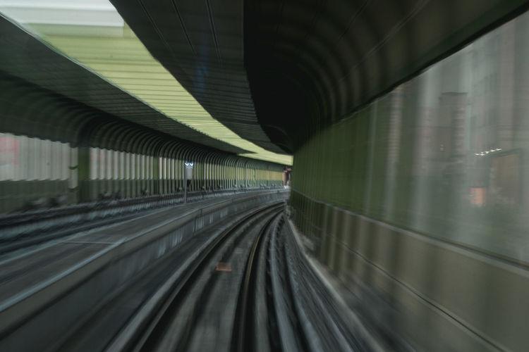 Train in railroad tracks