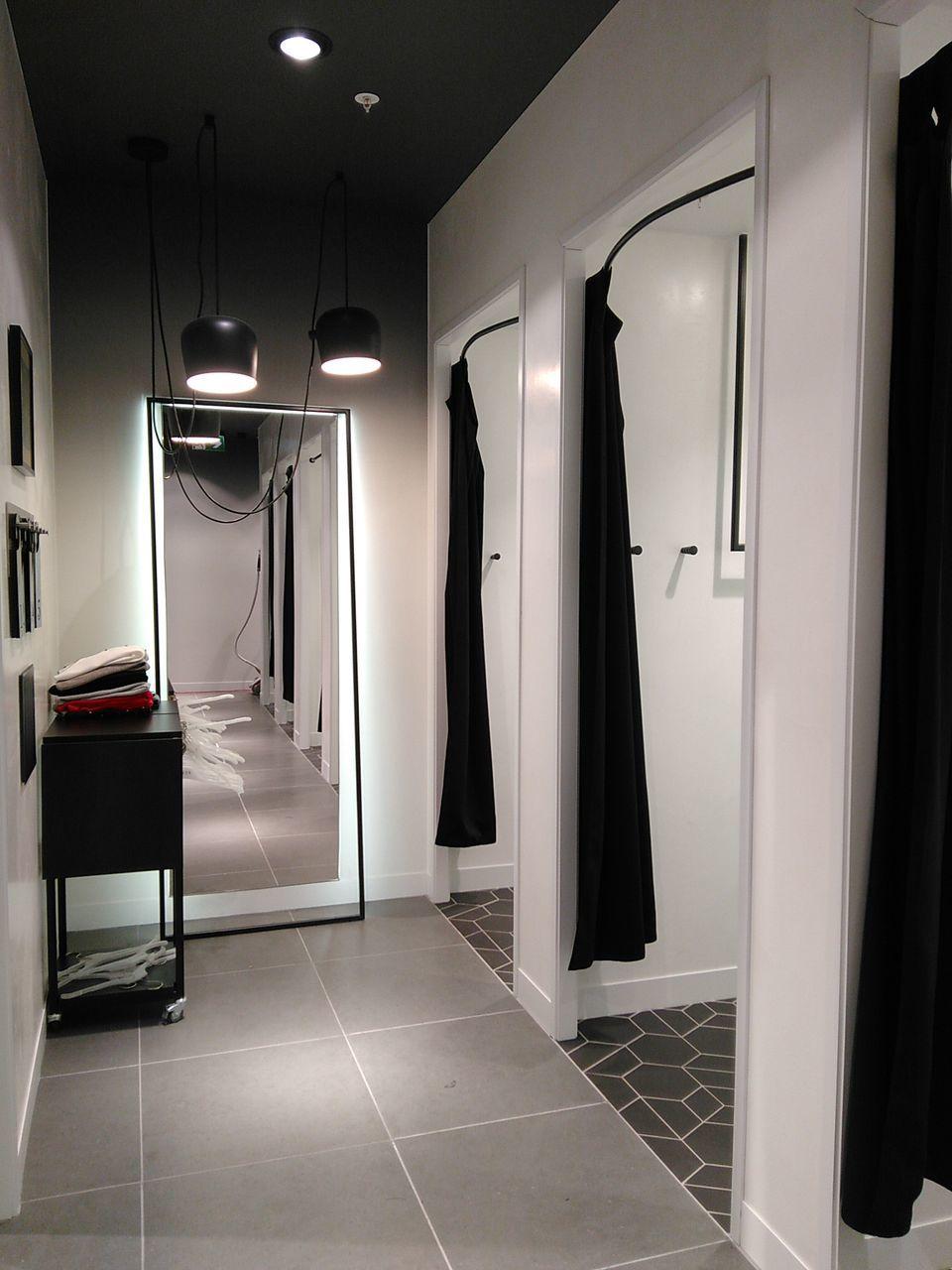 indoors, door, tiled floor, no people, illuminated, home showcase interior, open door, cabinet, architecture, day, laundromat