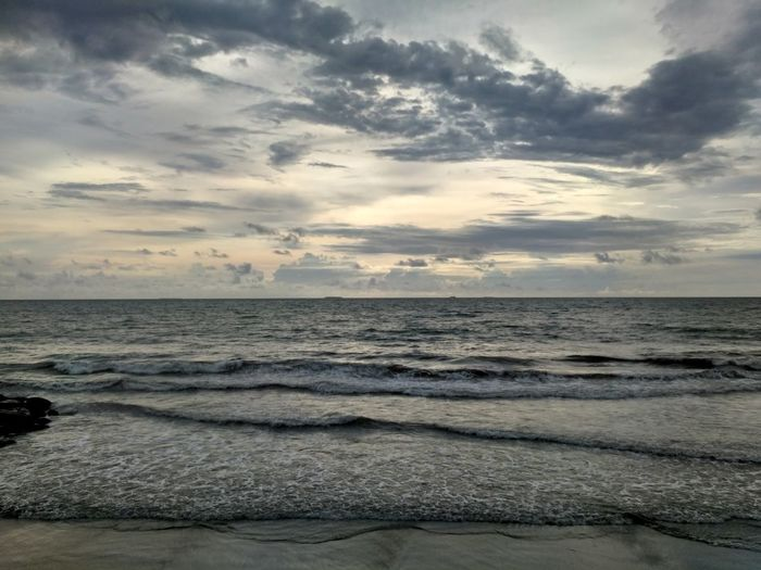 Pantai padang Sea Sunset Beach Outdoors Nature Cloud - Sky Westsumatera
