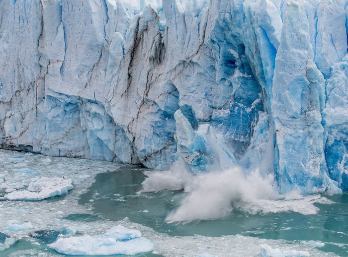 Water falling from frozen sea