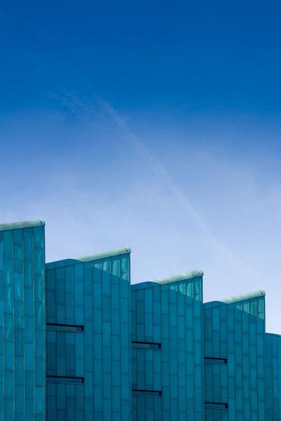 Architecture Blue Building Geometric Shapes Geometry Modern Modern Architecture Sky Windows The Architect - 2017 EyeEm Awards The Architect - 2017 EyeEm Awards The Graphic City