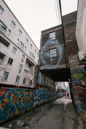 Alley Grafitti Outdoors Queen West Street Street Art Street Photography Toronto