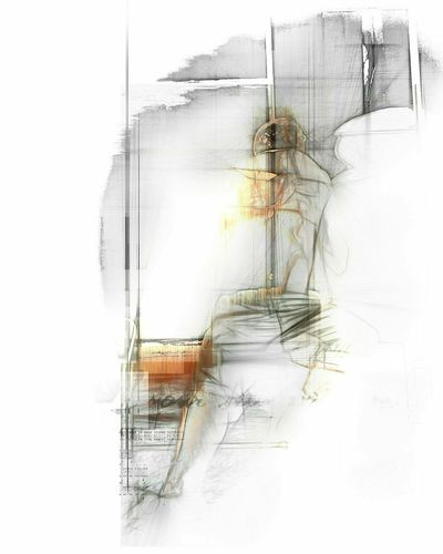 Art ArtWork Full Frame Artist Art is Everywhere White WhiteCollection Whiteandblack Portrait Portraits Abstract One Person One Woman Only Indoors  Adult Only Women People Adults Only Day