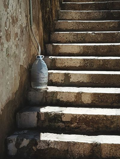 Staircase Steps Steps And Staircases Close-up Architecture Built Structure Pattern Urban Photography Graphic Photography Graphic Photo Steps Summer BottleArt Travel Destinations Happyness Vacations Sunlight Old Stairs Old Town Korčula Mediterranean  Stone Pavement Stairs And Steps