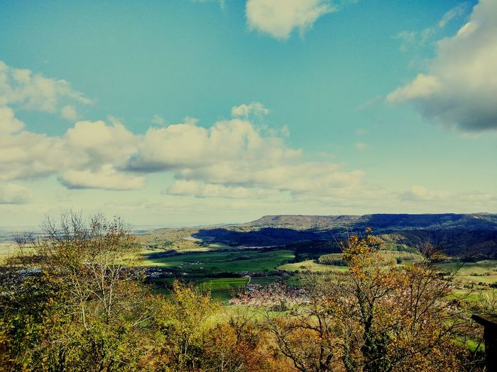 Stunning view from Burg Hohenzollern castle