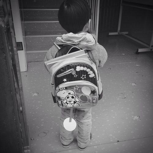 长大的孩子背起了书包/ Learning