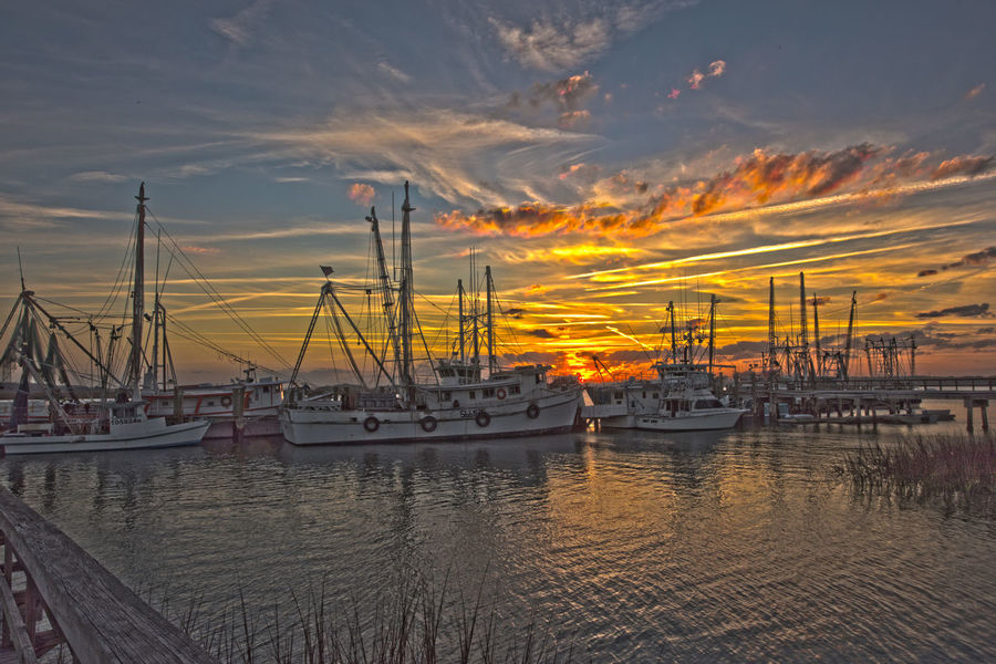 Business Finance And Industry Cloud Cloud - Sky Commercial Dock Day Harbor HDR Industry Nature Nautical Vessel No People Outdoors Sea Shrimp Boat Sky Sunset Transportation Water