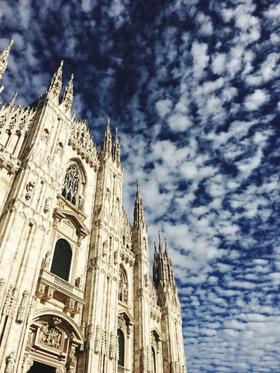 Duomo Milano EyeEmNewHere Mackerel Sky Duomo Milan Milan Sky Scorcio Duomo Milano Duomo Di Milan Duomo Milan Milan Low Angle View Religion Belief Spirituality Sky Place Of Worship Architecture Building Built Structure Building Exterior Nature Cloud - Sky No People Gothic Style Day Travel Destinations Travel Outdoors Ornate Spire  A New Beginning