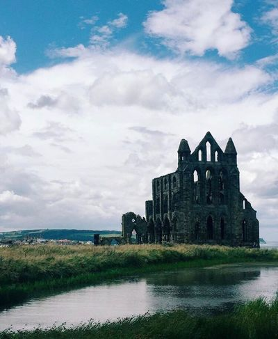 Been There. Whitby English Seaside Whitby Abbey Whitby North Yorkshire Yorkshire England England, UK Abby Cathedral Architecture Cloud - Sky Architecture Water Built Structure Sky Building Exterior History Day Outdoors No People Lost In The Landscape