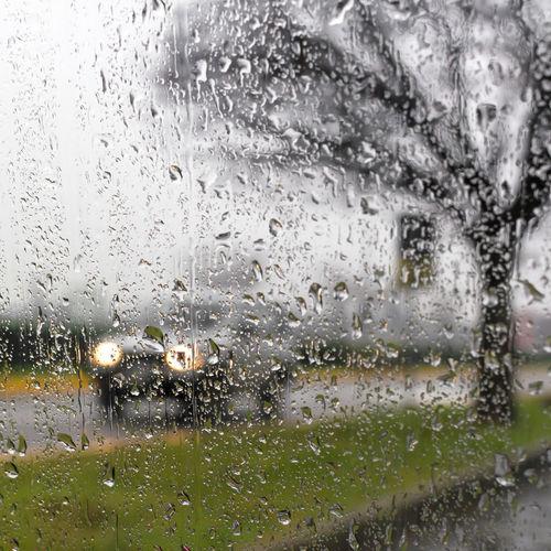 Full frame shot of wet car window
