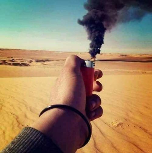Human Hand Sand