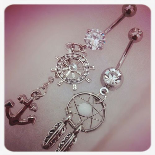 Vintage Cute Hipster Belly Button Piercing! Girly Body Jewelry Belly Rings