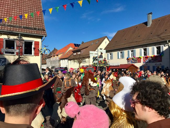 Weil der Stadt, Germany - February 26, 2017: Traditional festive and cultural carnival procession called Fasnet in Weil der Stadt, Germany. Carnival Carnival Crowds And Details Carnival Procession Colorful Day Editorial  Entertainment Germany Happy People Music Outdoors People Performance Weil Der Stadt