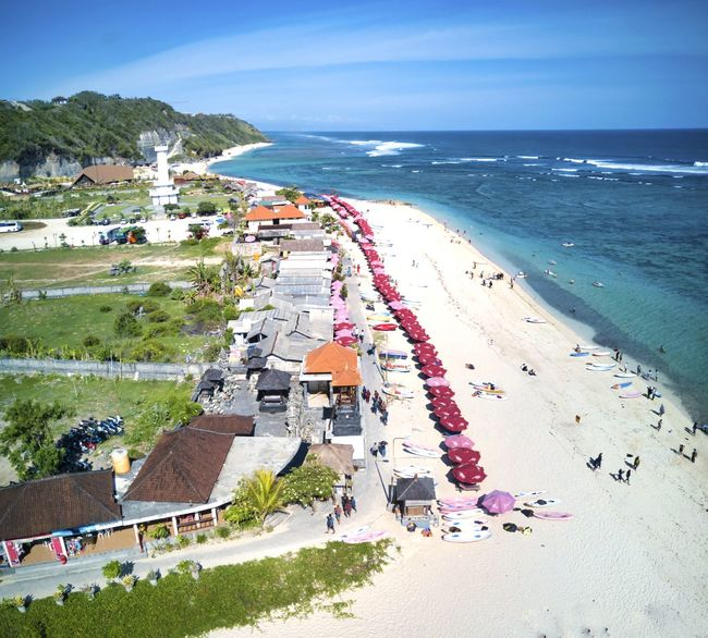 Pandawa Beach, Bali. Bali, Indonesia INDONESIA Pantai Pandawa Pandawa Beach, Bali Water Sea Beach Land High Angle View Sky Day Horizon Over Water Scenics - Nature Plant Beauty In Nature Nature Horizon Architecture Building Exterior Tree Vacations Built Structure Incidental People Outdoors