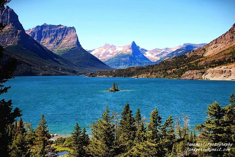 St Marys Lake. Wild Goose Island. Check This Out Glaciernationalpark Landscape_photography Montana Beautiful Nature
