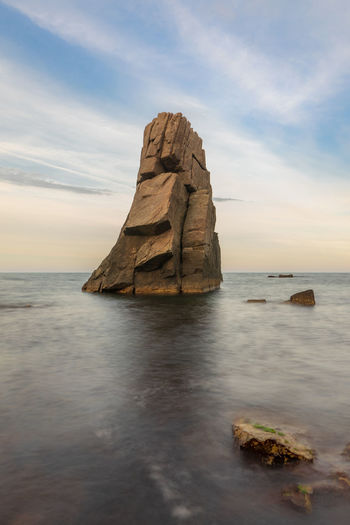 "The rock in the sea. ""Palikari"" rock in Sozopol. Landmark of the touristic city. Sea Rock Nature Rock Formation Landscape Landscapes Rock In The Sea Landmarks Sozopol Bulgaria Tourist Attraction  Travel Vacaation"