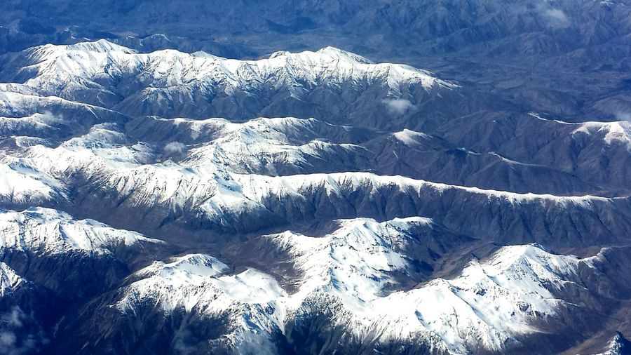 Kaikoura Mountains Snowcapped A Bird's Eye View Snow Covered Snow Shapes In Nature  Textures And Surfaces