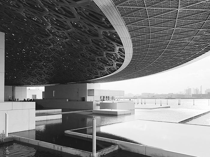 UFO-style roof of contemporary museum Architecture EyeEmNewHere Roof Museum Abu Dhabi UAE Abu Dhabi Louvre Abu Dhabi Louve Conteporary Built Structure Architecture Cityscape Indoors  Day No People Modern