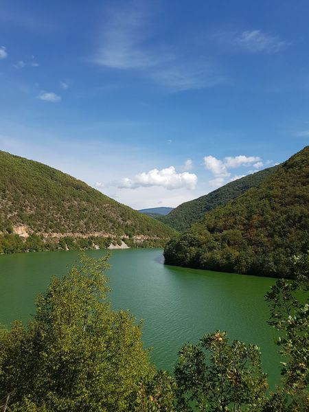 This green is how the water looked, I did not manipulate the photo!Macedonia Drim Water Nature Beauty In Nature Landscape No People Outdoors Mountain Day Tree Green Emerald Emerald Green