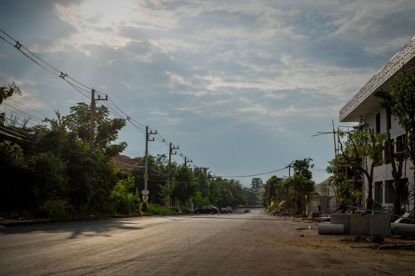 Chiang Mai, Thailand. Chiang Mai | Thailand Morning Morning Light Thailand Architecture Building Exterior Built Structure Cable Car Cloud - Sky Day Fujifilm Fujifilm_xseries Land Vehicle Nature No People Outdoors Road Sky The Way Forward Transportation Tree