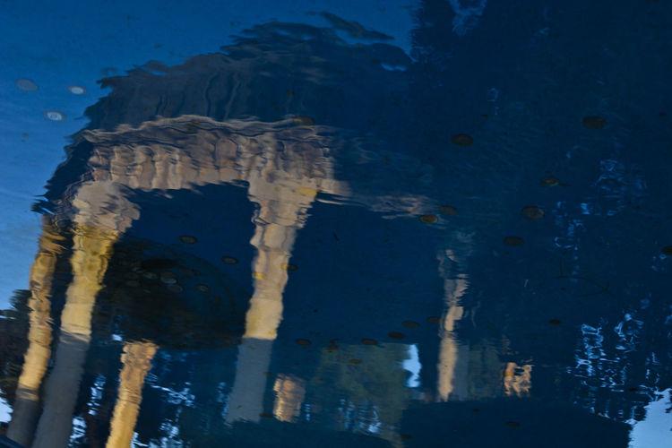 Iran,Shiraz,Tomb of Hafiz,Iranian great poet,1315-1390 Eye Em Around The World EyeEm Best Edits EyeEm Best Shots EyeEm Selects EyeEm Gallery EyeEmBestPics Hafez Hafezie Tomb Blue EyeEm Around The World Eyeem Architecture Lover Eyeem Reflections Eyeemphotography Hafeziye Hafeztomb High Angle View Iran Iranian Architecture Iranian Poet Pattern Reflection Reflections In The Water Shiraz, Iran Water
