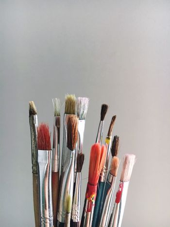 Variation Copy Space Paintbrush Studio Shot Still Life Multi Colored Large Group Of Objects No People Brush Choice Close-up Indoors  White Background Brushes Brushing Brush Paint Painting Paintings Creativity Creative ArtWork Artworks Art Creative Power