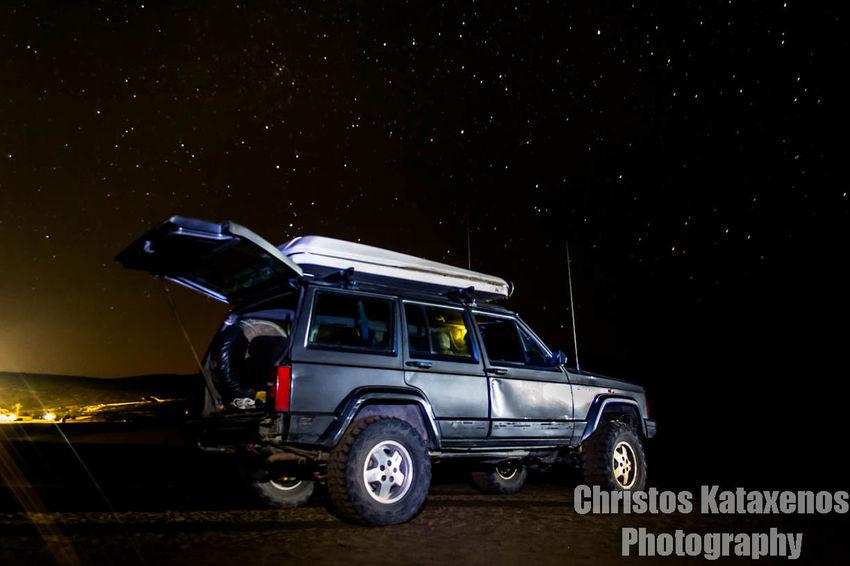 Night Beach Motion Island Stars Trail Lights