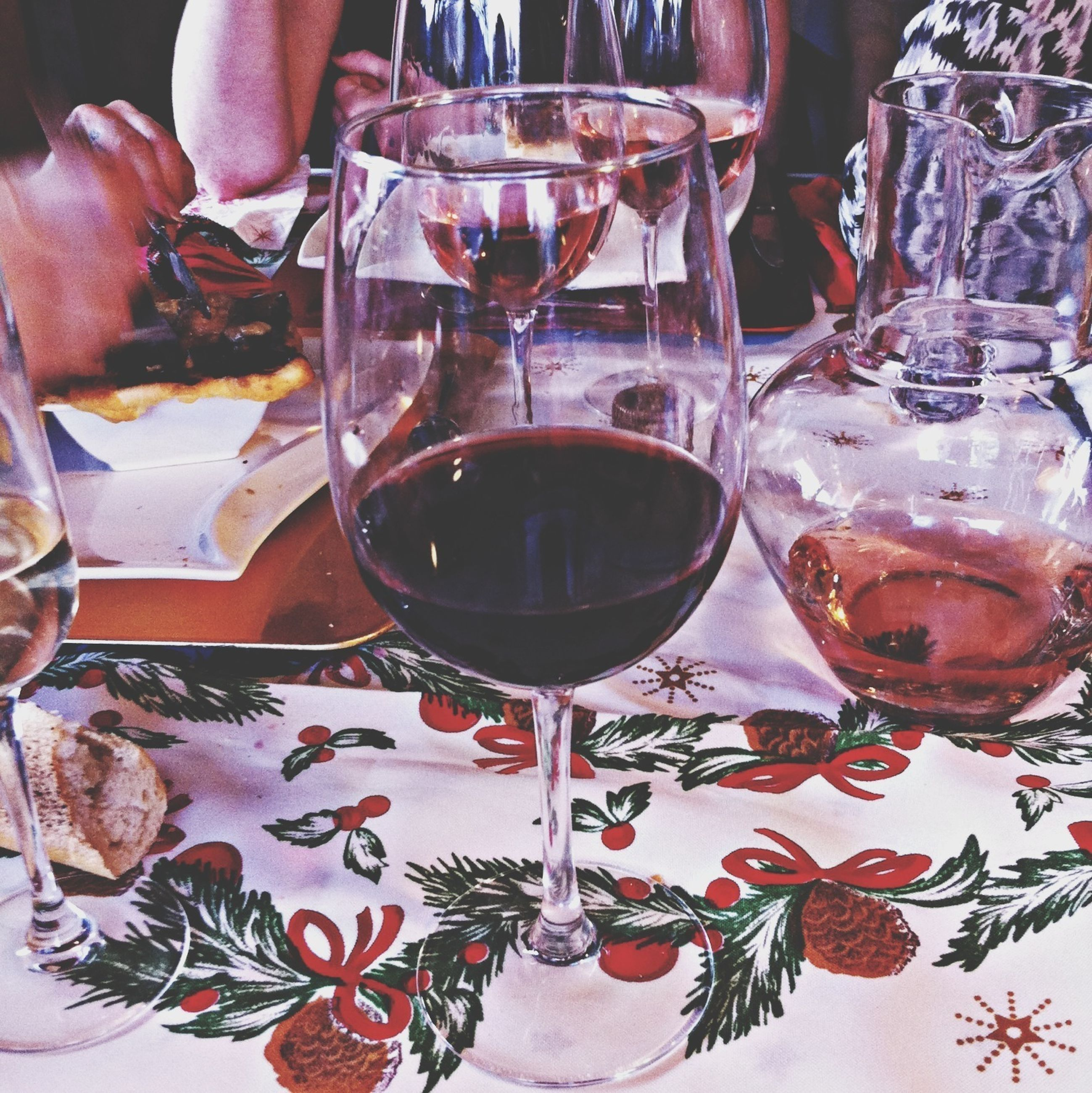 indoors, food and drink, table, drink, refreshment, drinking glass, freshness, wineglass, still life, glass - material, restaurant, close-up, wine, food, alcohol, home interior, transparent, plate