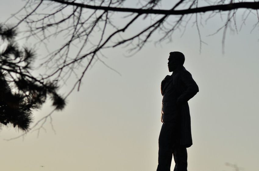 Silhouette Sunset Statue Sunset Silhouettes Historical Place The Places I've Been Today