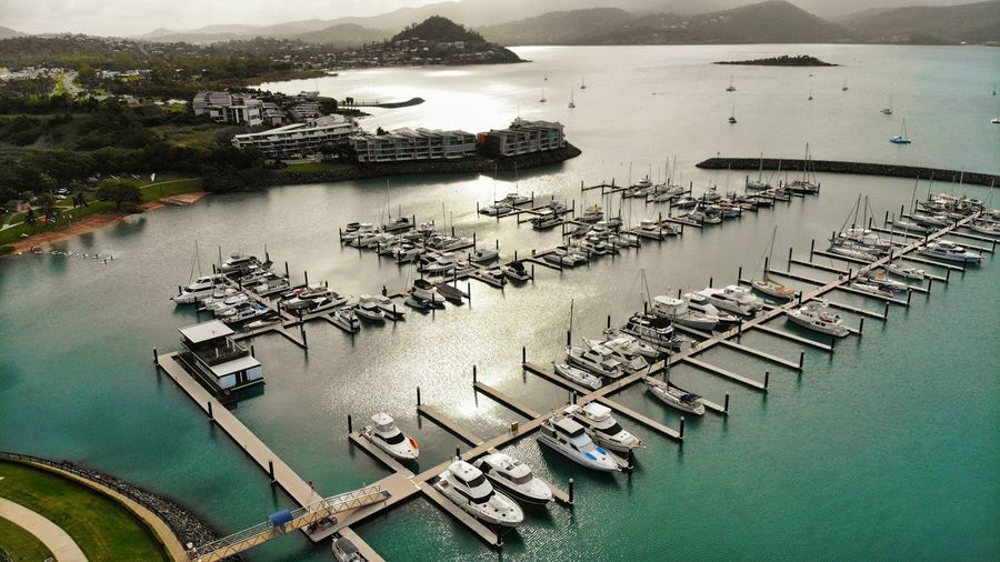 Water Nautical Vessel Transportation High Angle View Mode Of Transportation Moored Architecture Nature Sea Built Structure Harbor Travel Day Travel Destinations No People Waterfront Building Exterior Pier Outdoors Yacht Sailboat Bay Port