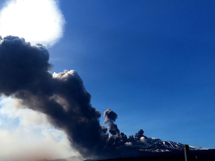 Mount Etna eruption, 24th of December, 2018 Sicily Mount Etna Volcano Italy EyeEm Best Shots EyeEmNewHere EyeEm Nature Lover Sky Beauty In Nature Cloud - Sky Scenics - Nature Tranquil Scene Tranquility Winter Snow Cold Temperature Nature Mountain Day